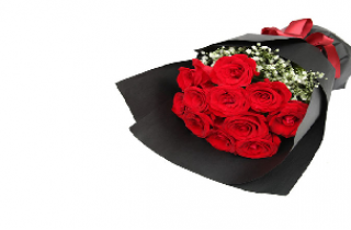 One Dozen Red Rose Bouquet Package for Birthday Combo