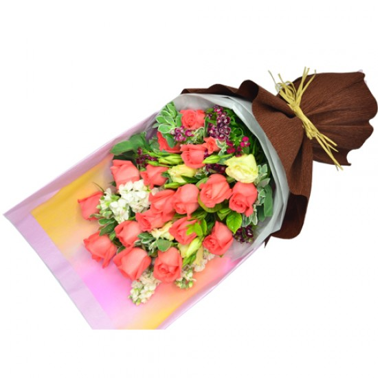 Valentines Day Special  18pcs Roses Bouquet