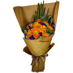 Ten Holland Gerberas Bouquet  Sunny Day
