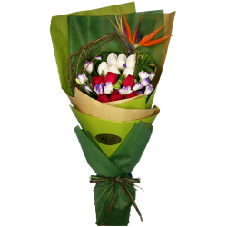 Bird Paradise with Roses Bouquet