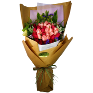 Three Dozen Mixed Colors Roses Bouquet