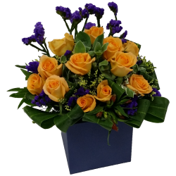 One Dozen Roses Box Arrangement