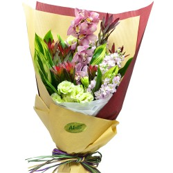 Holland Pink Color Cymbidium Bouquet