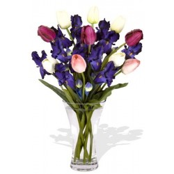 Iris and Tulips Bouquet