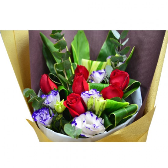 Half Dozen Roses Bouquet  Simple but Elegant